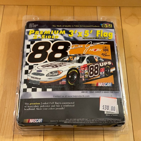 NASCAR Dale Jarrett #88 3'x5 Premium Racing Flag